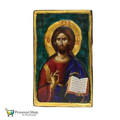 Ιησούς Χριστός Ευλογών (σκαλιστή)